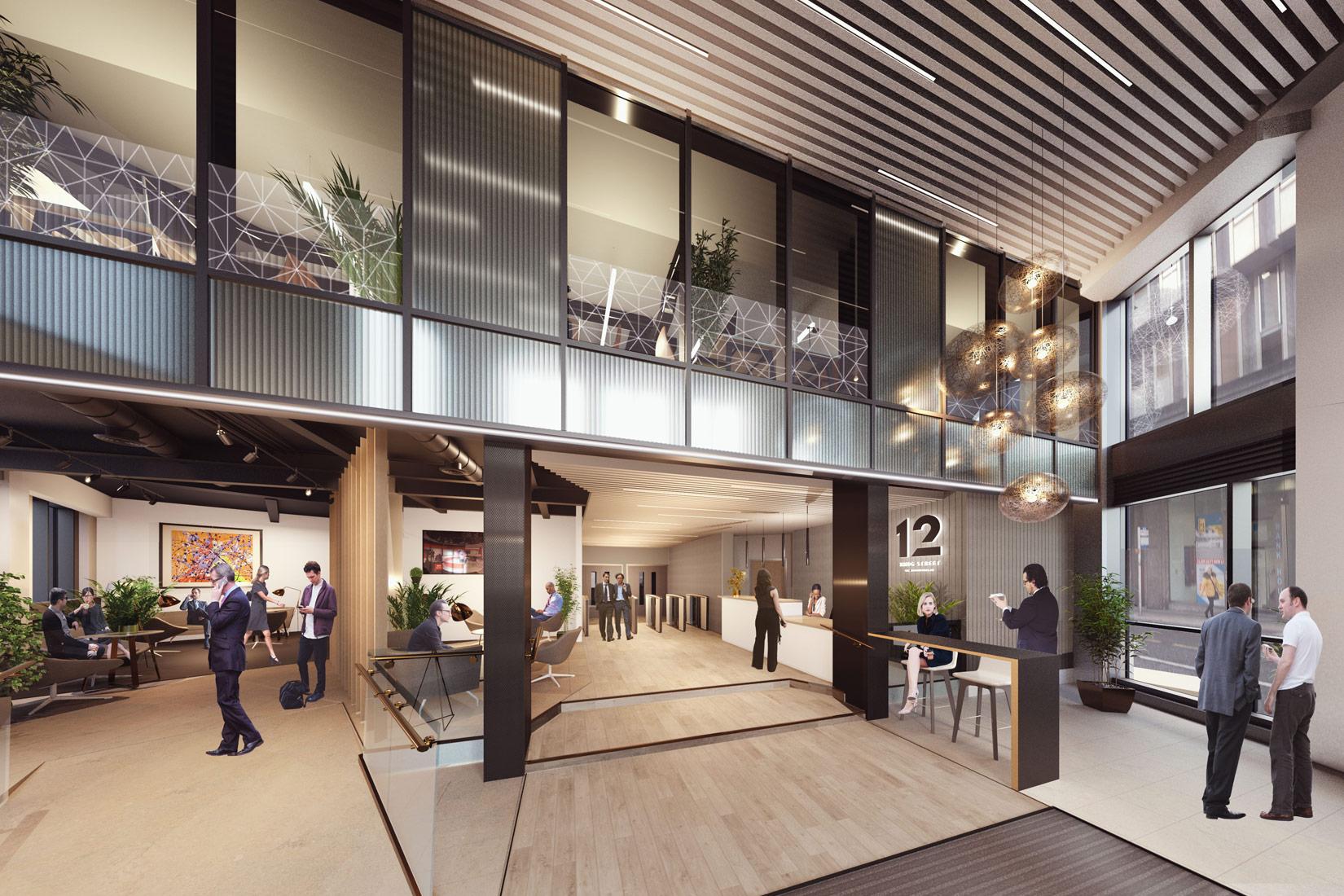 12 King Street, Leeds, 3D visual of reception