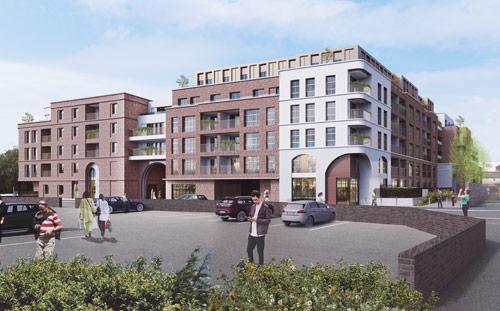 Chandler's Place, Sevenoaks, 3D Visual from Suffolk Way Car Park