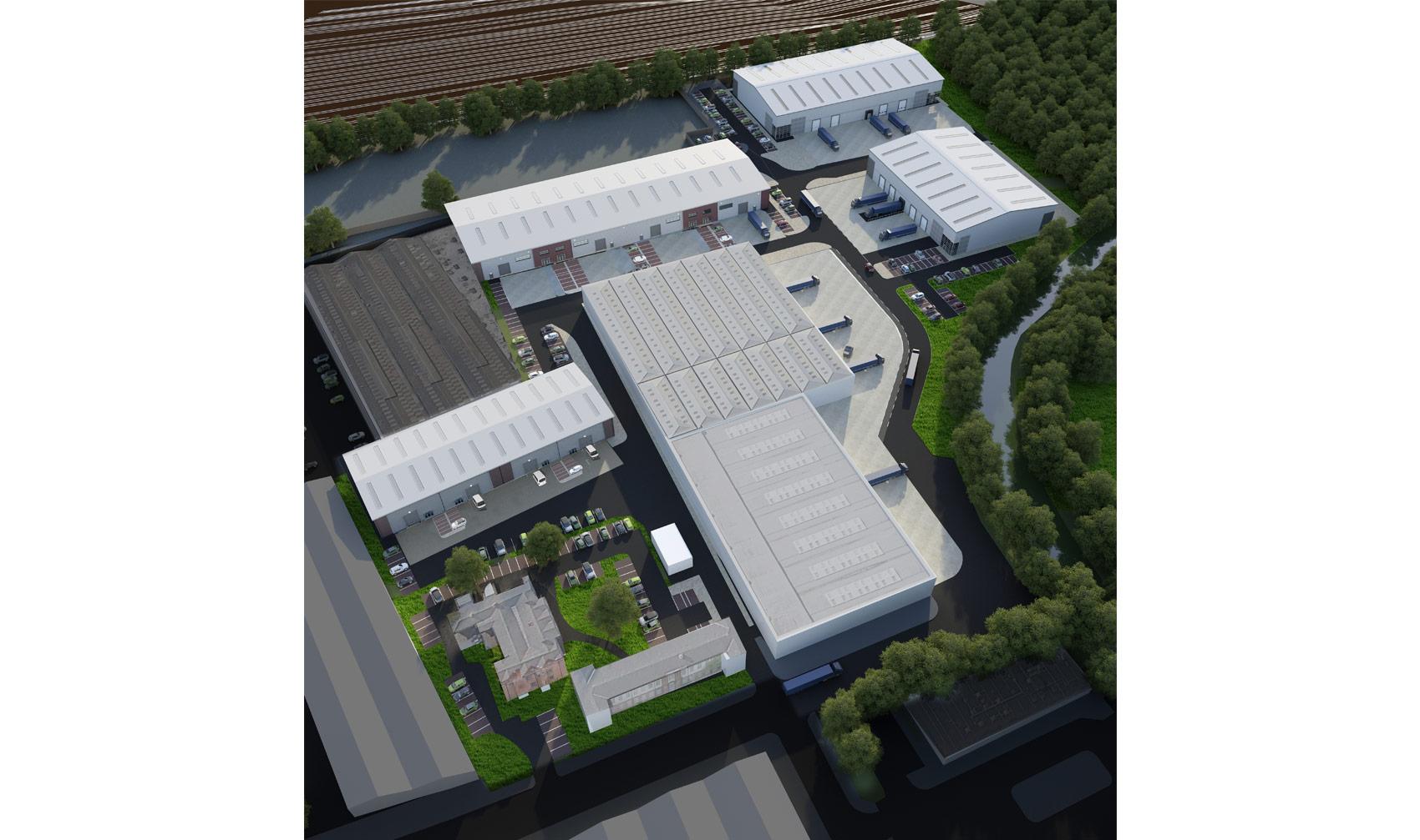 Hay Hall Business Park, Tyseley, 3D Aerial Visual