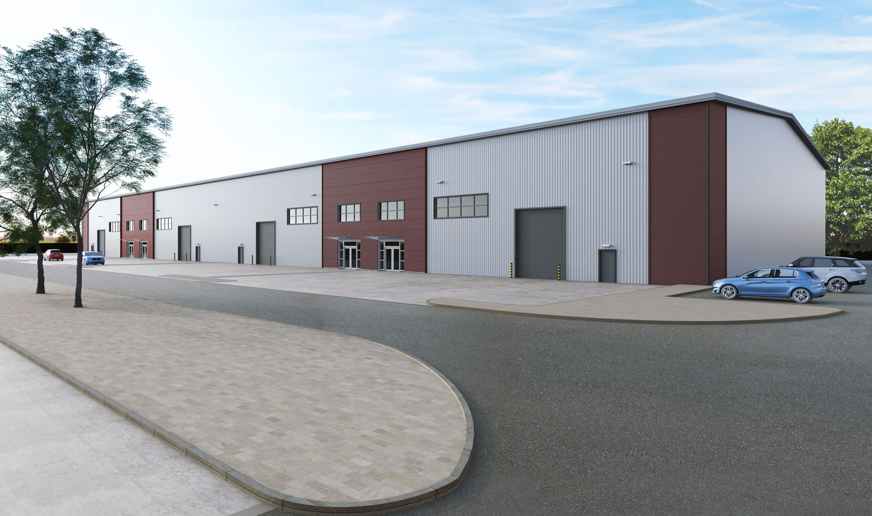 Hay Hall Business Park, Tyseley, 3D visual industrial unit