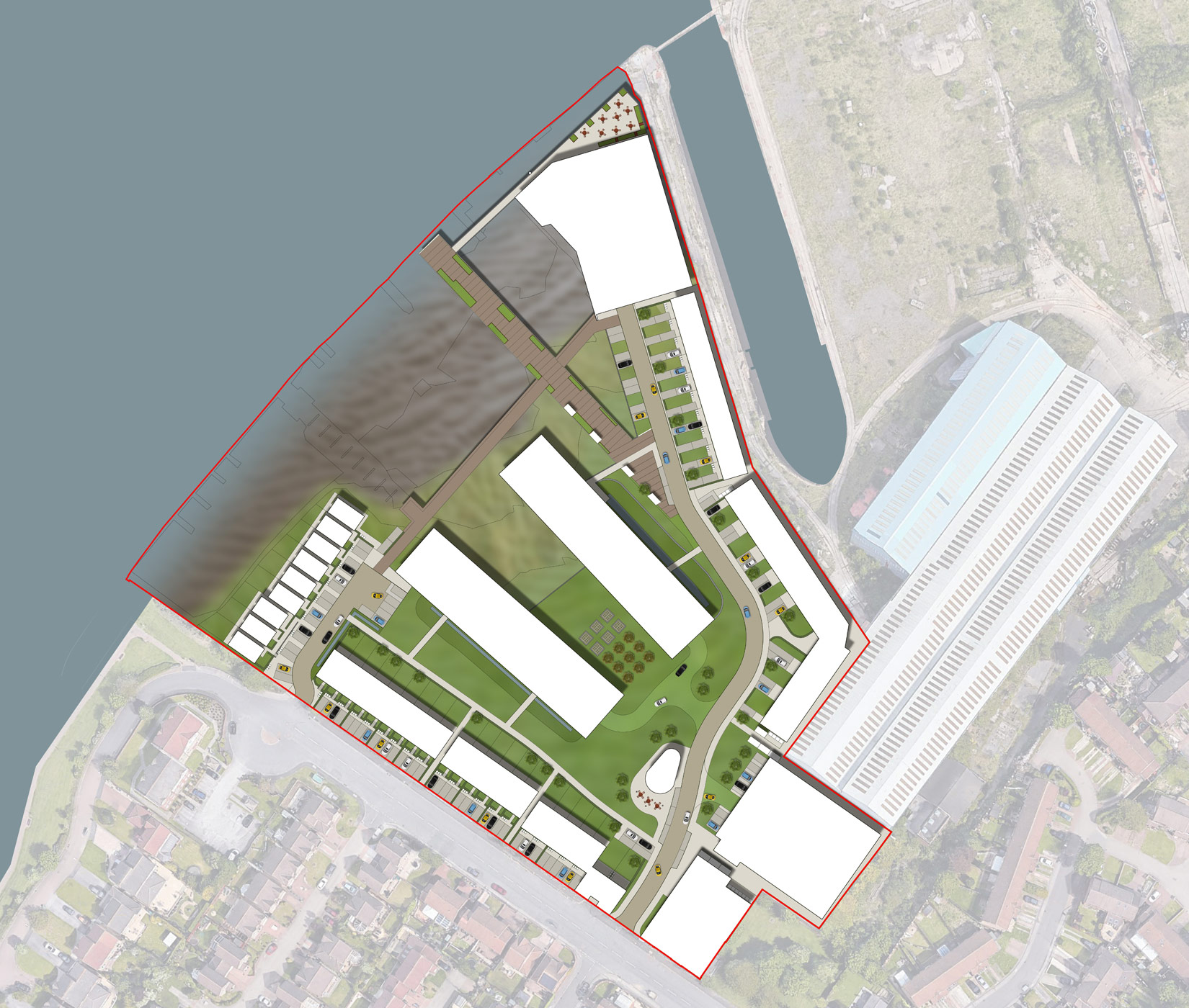 Kelly's Yard, Hebburn, Masterplan